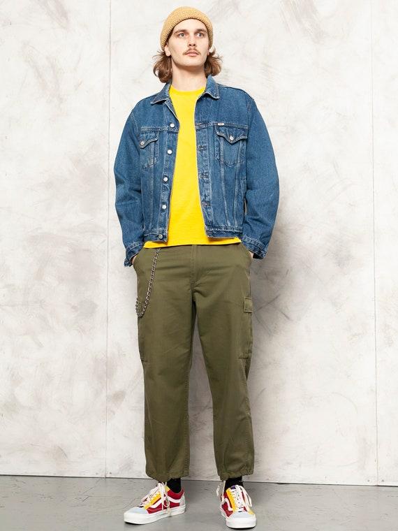 Denim Grunge Jacket vintage 90s street jean jacket