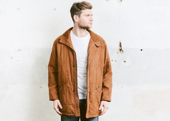 Vintage Velour Parka Jacket . Mens Brown Velvet Co