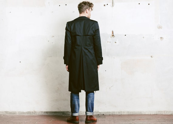 Jacket Coat Coat Trench Men M Coat Men's Medium Coat Mac size Topcoat Long Outerwear Insulated Rain 80s Duster 1980s qOxwEgq
