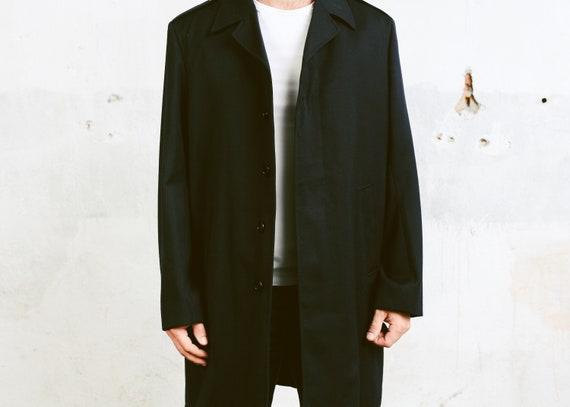 Marine MantelGröße 60er Jacke 1960er OvercoatWinter Mantel Mod Jahre Oberbekleidung Erbse Herren Groß Wolle Vintage Blau WH2IED9