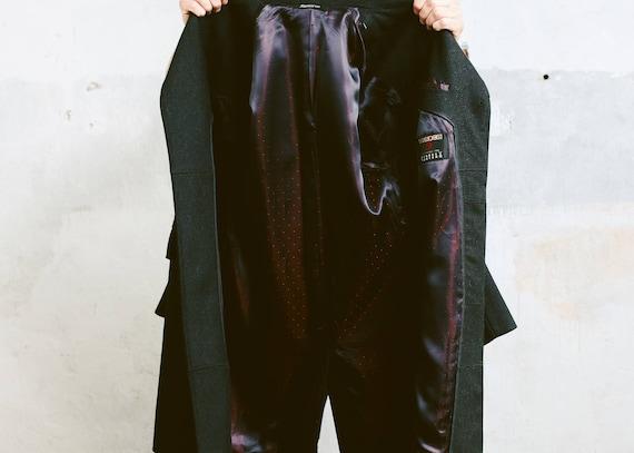 Mens Black WOOL COAT . Vintage Pea Coat Luxurious… - image 5
