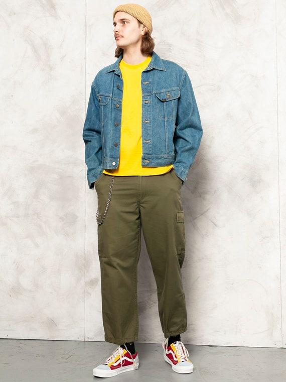 Denim LEE Jacket vintage 90s street jacket distres