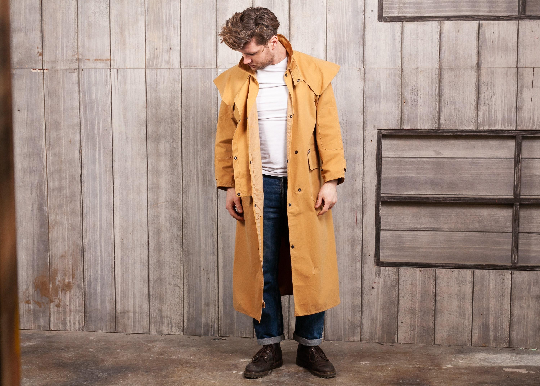 Men's Vintage Driza-Bone Riding Coat Wax Jacket Brown Small Chest 37//39 100CM