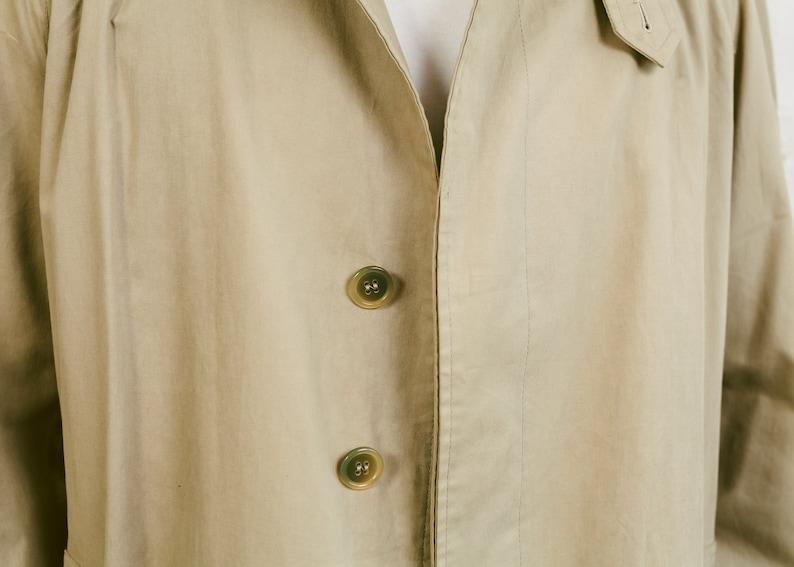 Vintage 90 Mac Coat .Men/'s  Beige 90s Duster Coat Oversized Jacket Cotton Blend Long Coat Boyfriend Gift Autumn Coat size Extra Large XL