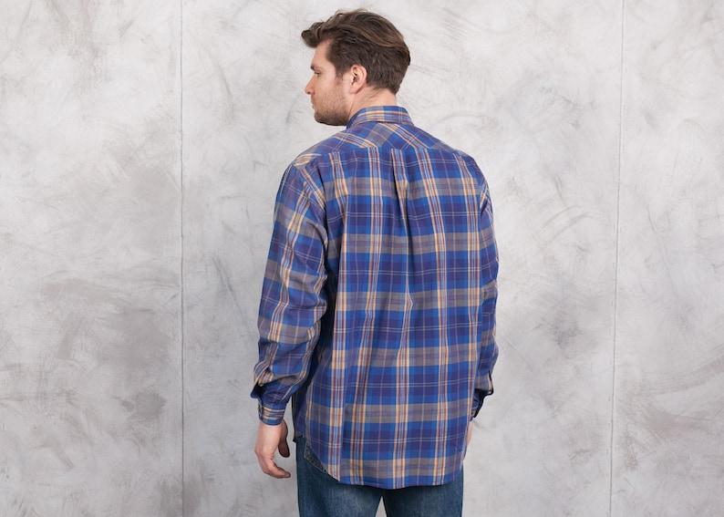 Marlboro Classics Men Shirt size Extra Large XL Vintage Men/'s Oversized Shirt Cotton Shirt Oxford Shirt 90s Check Print Shirt