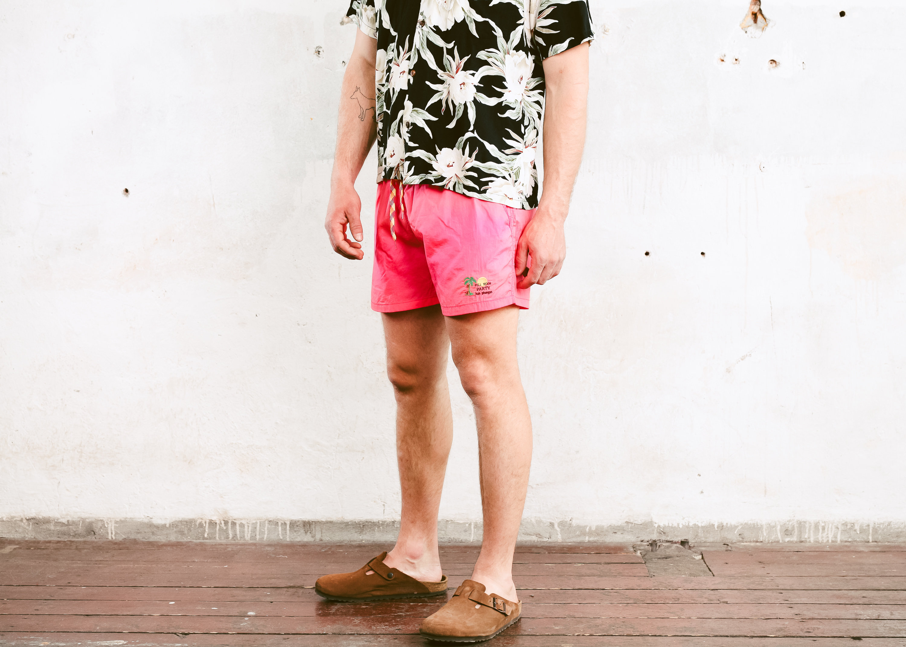 4c509c55d2 Vintage Pink Beach Shorts . 90s Bold Summer Shorts Men's Surfer ...