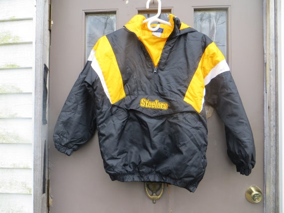 vintage Nfl reebok Pittsburgh steelers nylon puffy quilted  d1efbd3a8