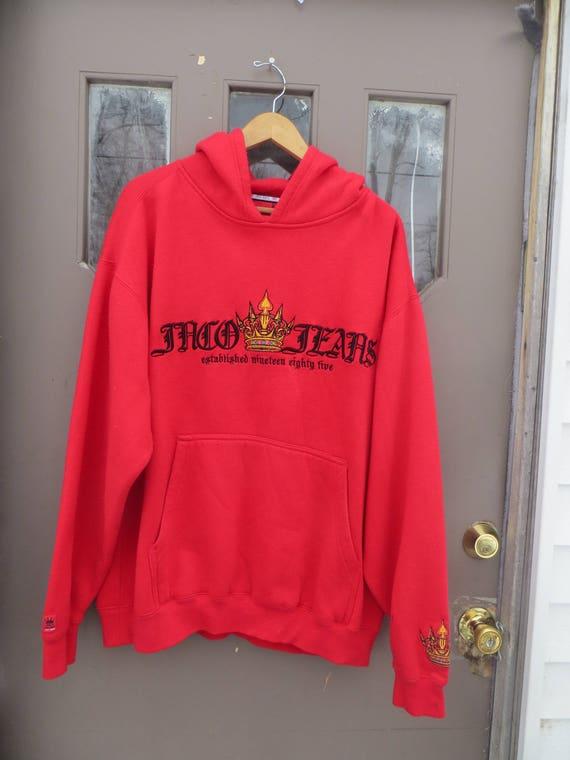 JNCO raised colorful crown  hoodie, Jnco jeans swe