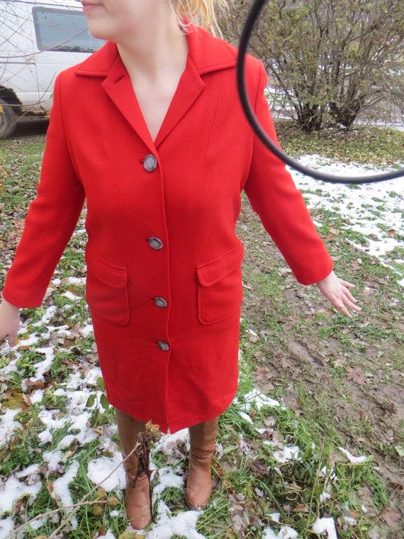 retro  vintage    Pendleton pure virgin  red wool