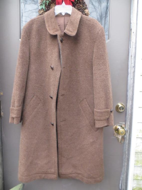 Llama alpaca wool Coat, 1960s WEST  Germany Vintag