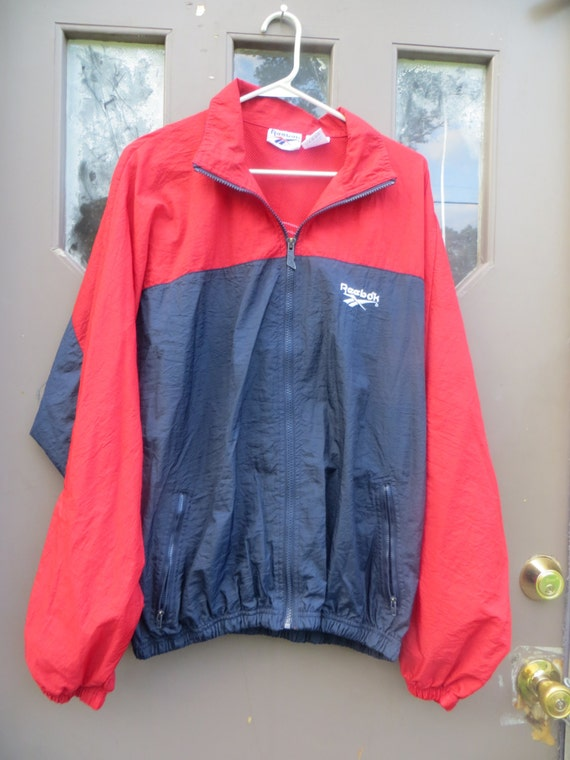 vintage Reebok colorblock Windbreaker Jacket Vint… - image 1