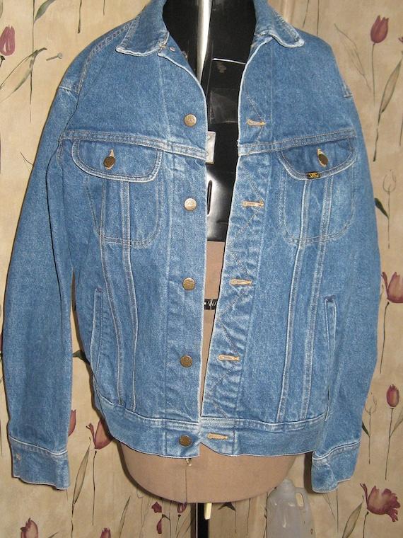 Vintage 70s LEE DENIM Jean trucker hipster  jacket