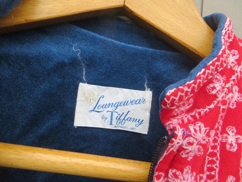 8b4fa8c2aa2f Vintage Tiffany Loungewear Front Zip Up Velour Robe HOSTESS