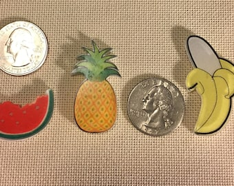Resin Watermelon, Pineapple or Banana NEEDLE MINDER Cross Stitching-Cross Stitch-Embroidery-Hand Embroidery-Needlepoint