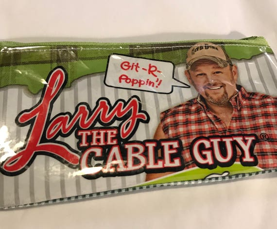 Recycled Larry the Cable Guy Chip Bag Zippered Coin Purse-Eco Friendly-