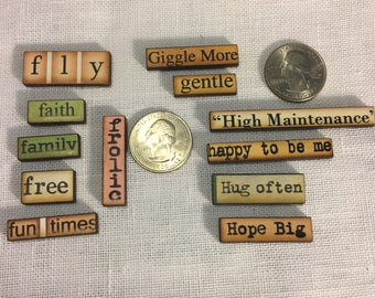 Wood Word Sayings NEEDLE MINDER Cross Stitching-Cross Stitch-Embroidery-Hand Embroidery-Needlepoint