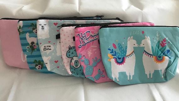 Cute Unicorn Llamas Women Girl Canvas Floral Coin Purse Clutch Pouch Wallet