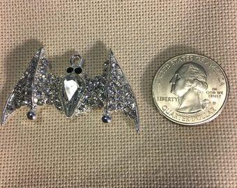 Enamel and Rhineston's Bat Halloween NEEDLE MINDER Cross Stitching-Cross Stitch-Embroidery-Hand Embroidery-Needlepoint