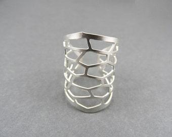 sterling silver ring, snakeskin ring, snake ring, silver ring, snake jewelry
