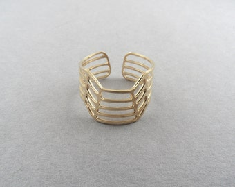 geometric ring adjustable 3d simple ring statement ring geometric jewelry architectural ring 3d jewelry architecture jewelry pattern ring