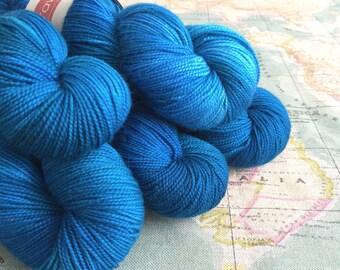 Pure Merino hand dyed sock yarn - Freycinet