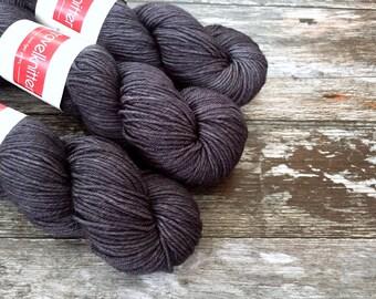 BFL DK hand dyed yarn - Puddled Iron
