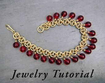 Beaded Infinity Bracelet Jewelry Tutorial