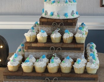 3 Tier Cupcake Stand Table Centerpiece Wedding Decoration Etsy