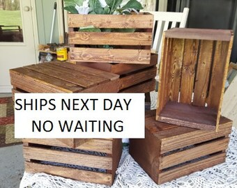 Wood Crates Etsy