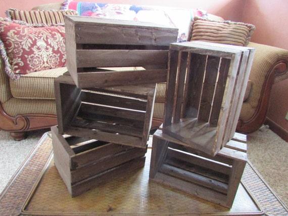 Wooden Crates 5 Wood Wedding Reception Centerpiece Rustic Etsy