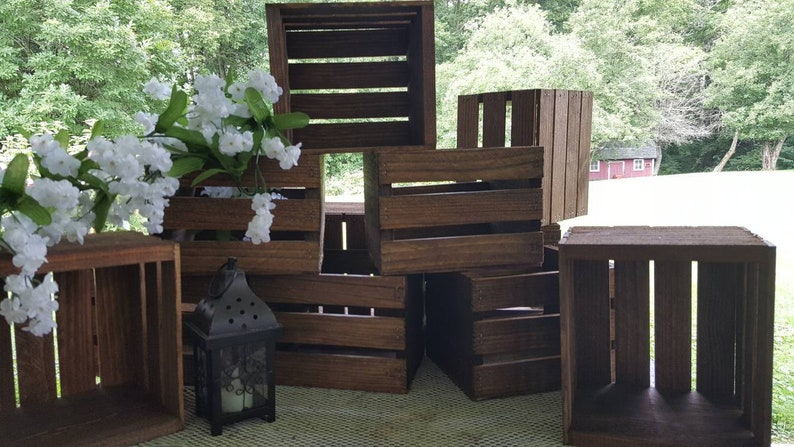 Rustic Wooden Crates Wedding Decorations Wood Crate Etsy