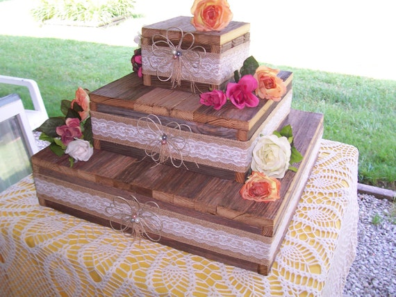 Wedding Cake Stand Reception Decorations Cupcake Stands 3 Tier Etsy