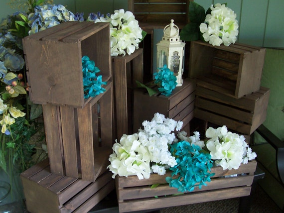 Rustic Flower Box Centerpiece Wooden Crates Rustic Wedding Etsy