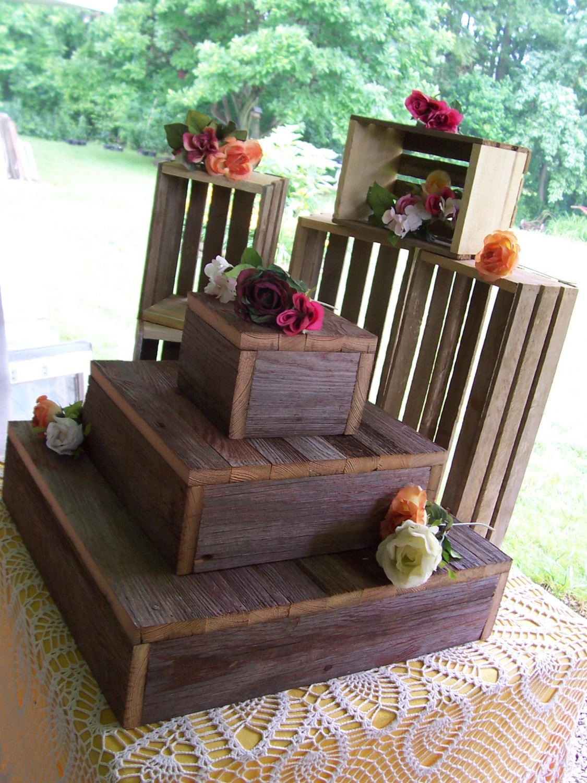 Cupcake Stand Crates Bundle Rustic Wedding Decorations