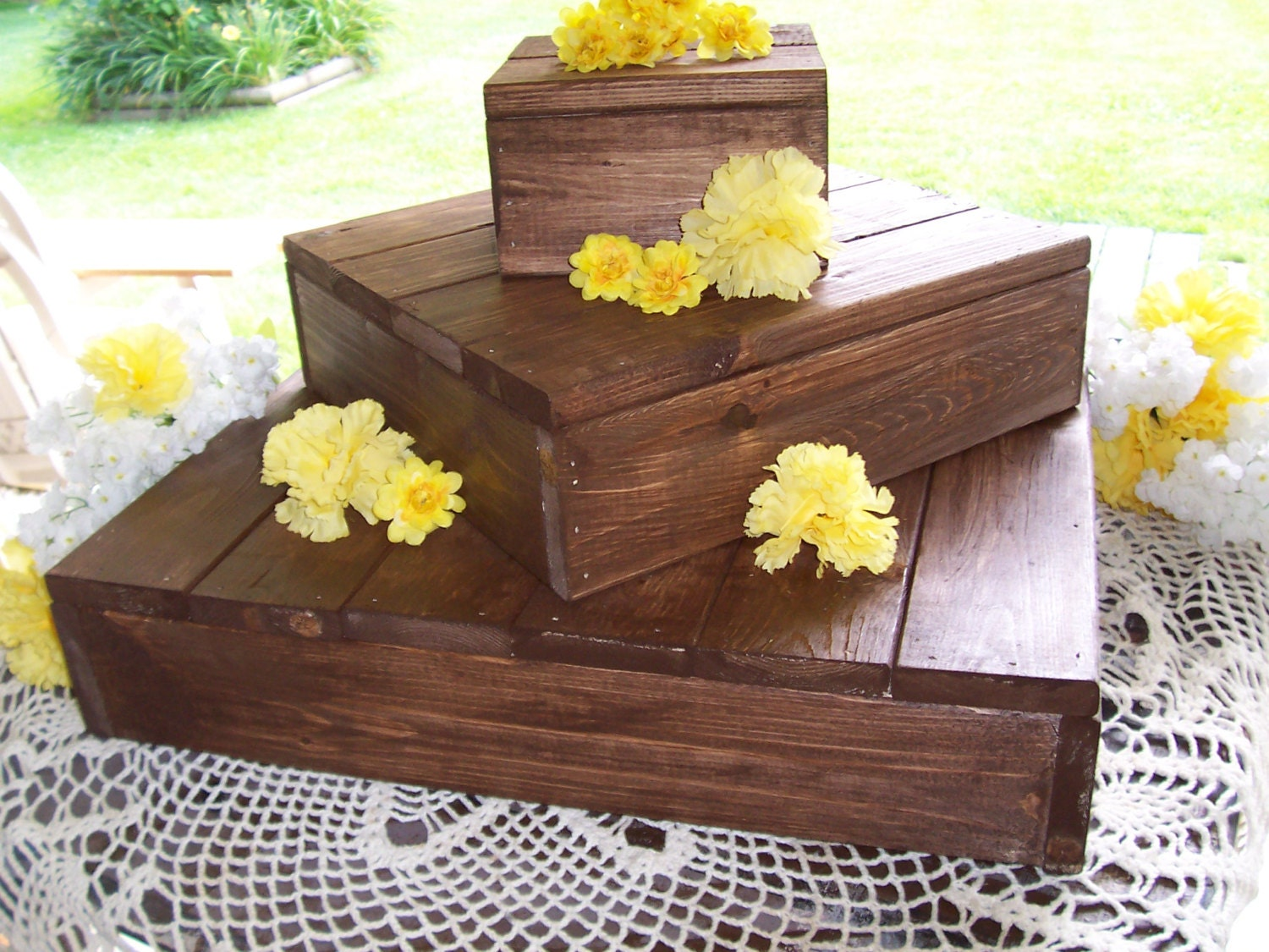 rustic cake stand rustic cupcake stand wedding decoration ...