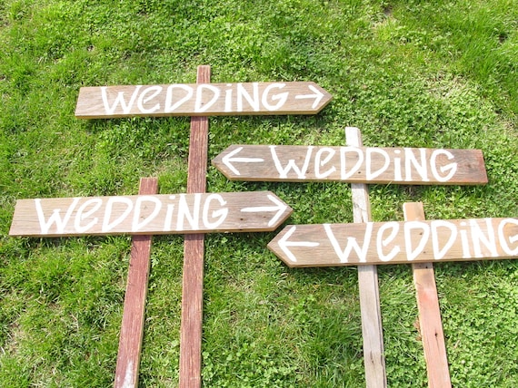 Wedding Signs 9 Blank Paint Your Own Diy Wooden W Stakes Birthday Graduation Baby Shower Decorations Country Reception Rustic Photo Props