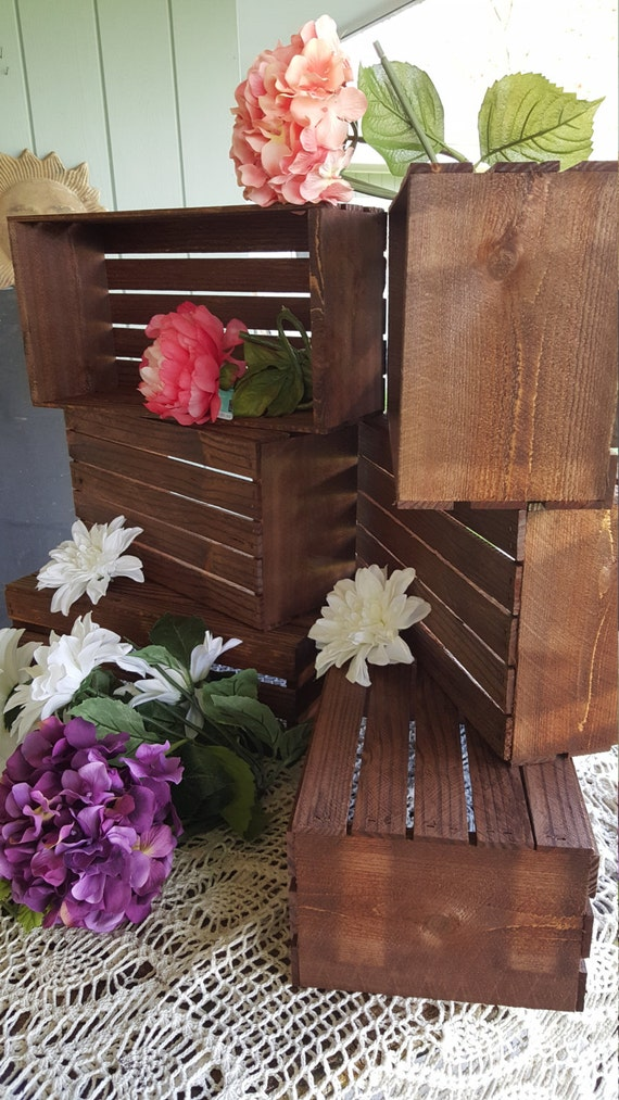 18 Inch Rustic Wooden Crates Flower Box Wedding Table Etsy