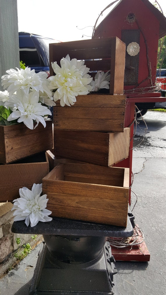 Rustic Flower Box Centerpiece Wooden Crates Rustic Wedding Etsy