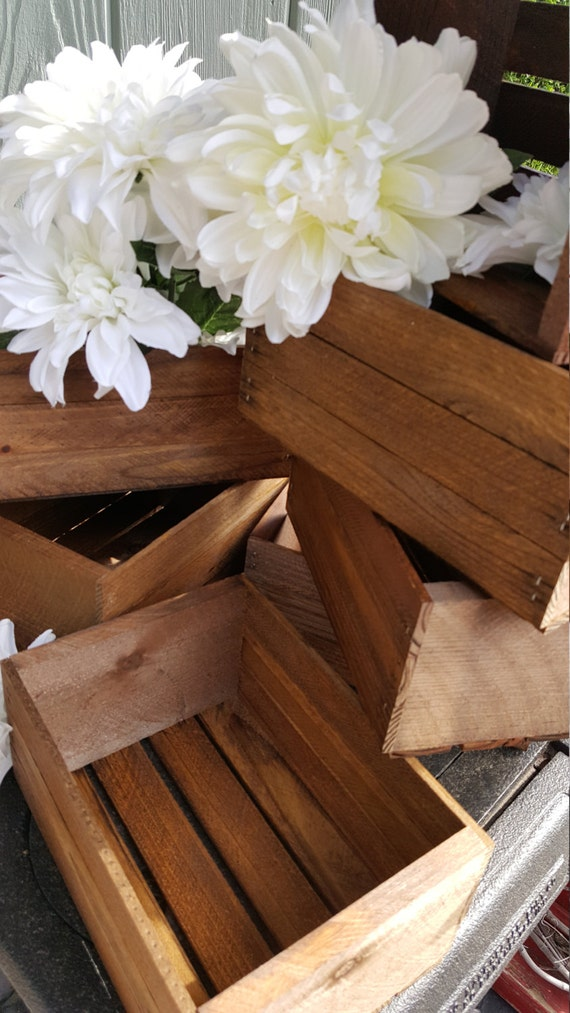 Rustic Flower Box Centerpiece Wooden Crates Rustic Wedding