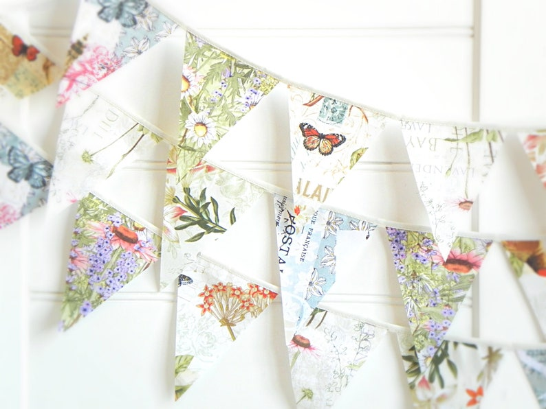 Botanical Wedding Bunting