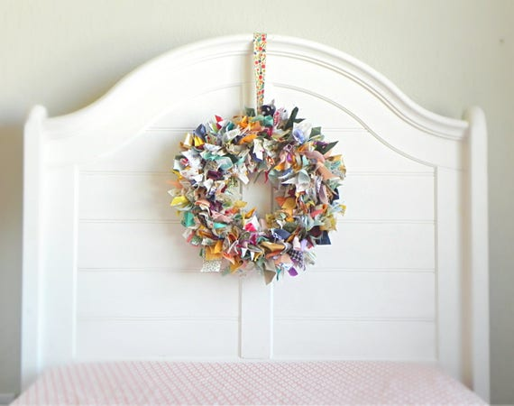 Rag Wreath Farmhouse Spring Wreaths For Front Door Rustic