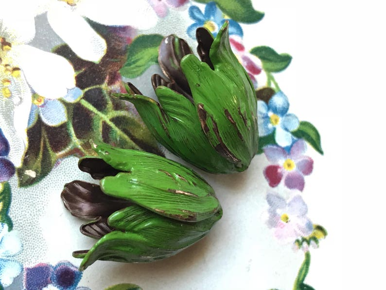 Bead Caps Vintaj Leaf Petal Artsy Blossom Large 22mm Antiqued OX Etched #1412