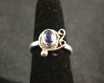 Iolite and Sterling Silver Ring Size 6