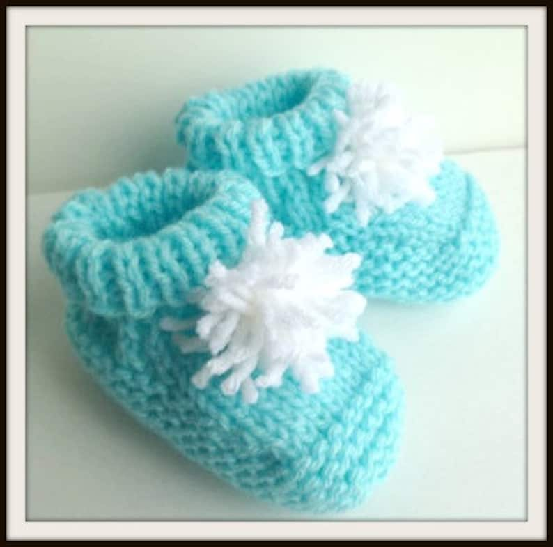Baby Boy Crib Booties Size 3-6 Months Shoes Baby Shower Gift