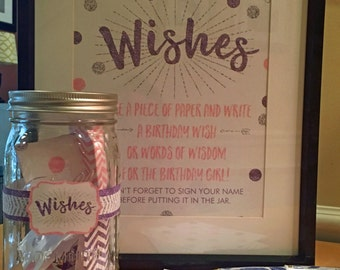 Birthday Wish Jar Etsy