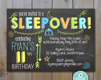 editable chalkboard birthday invitation neon colors etsy
