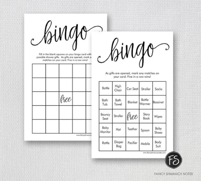 image regarding Printable Baby Shower identify Printable Boy or girl Shower Bingo Match, Prefilled Bingo Video game Playing cards, Extravagant Script Gender Impartial Shower Recreation, Prompt Down load Electronic Document 1234