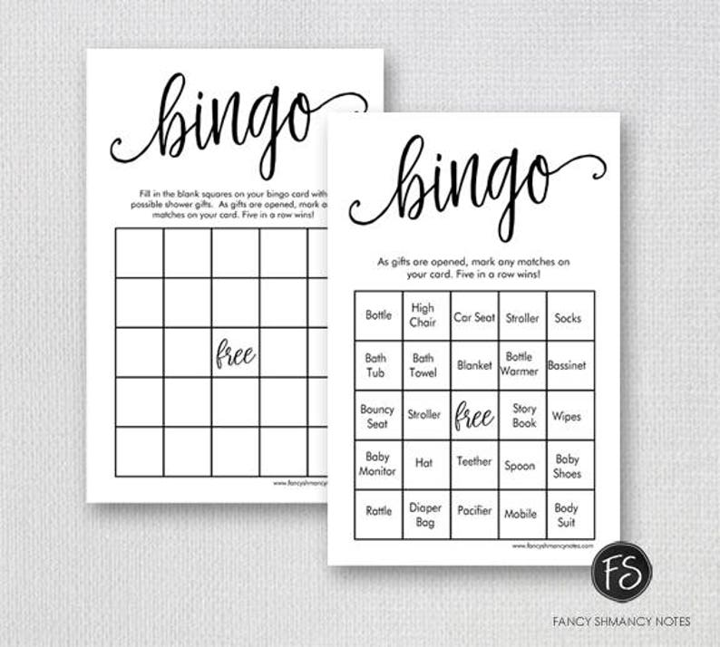 picture regarding Printable Baby Shower called Printable Child Shower Bingo Recreation, Prefilled Bingo Activity Playing cards, Extravagant Script Gender Impartial Shower Video game, Instantaneous Down load Electronic Document 1234