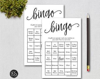 Printable Bridal Shower Bingo Game, Prefilled Bingo Game Cards and Bonus Blank Cards, Instant Download Digital File 1234