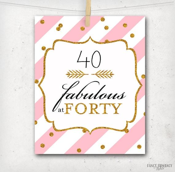 photograph relating to Printable 40th Birthday Card named Printable 40th Birthday Crimson and Gold Glitter Printable